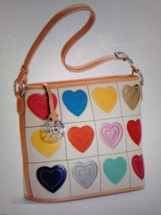 bag white purse valentine brighton heart colorful