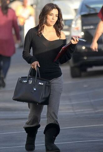 boots eva longoria sweatpants shoes