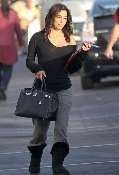 Boots Eva Longoria Sweatpants Shoes Wheretoget
