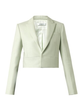 jacket cropped jacket cropped wool neoprene light green