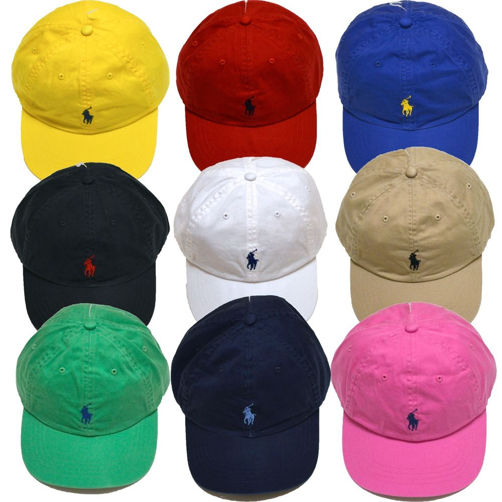 Polo Ralph Lauren Ball Cap Hat Mens Pony Logo Baseball One Size ... a0fd723463d