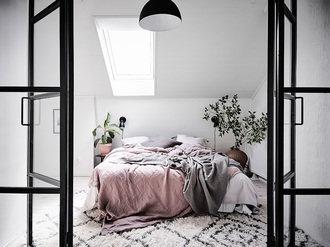 home accessory home decor home furniture bedroom bedding pink scandinavian cozy comfy
