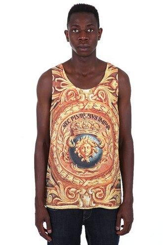 tank top print printed tank top all over print full print streetwear streetstyle menswear