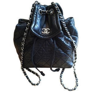 Chanel cc lambskin backpack as seen on kourtney kardashian