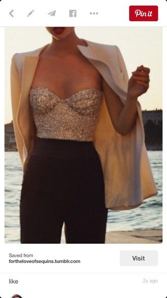top top sequin sequin shirt