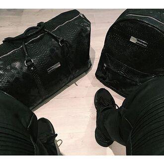 bag maniere de voir travel bag accessories menswear snake embossed bag backpack trendy style