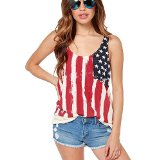 Amazon.com: american flag blouse