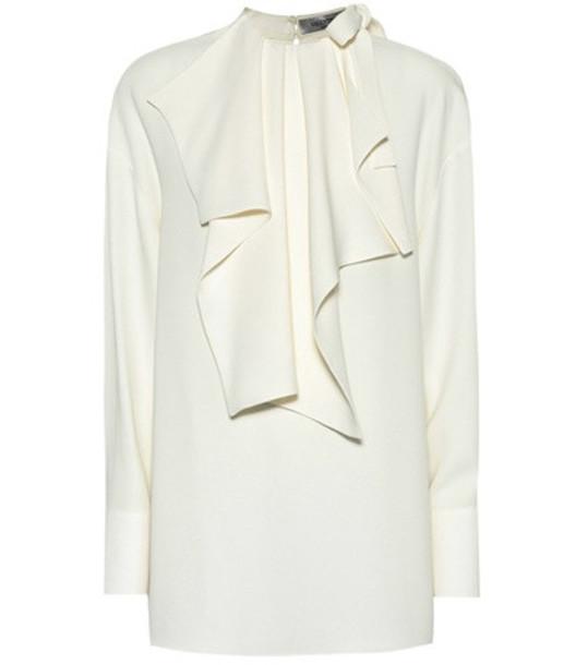 Valentino Silk crêpe blouse in white