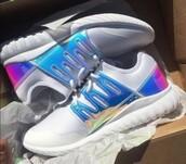 shoes,holographic adidas tubular