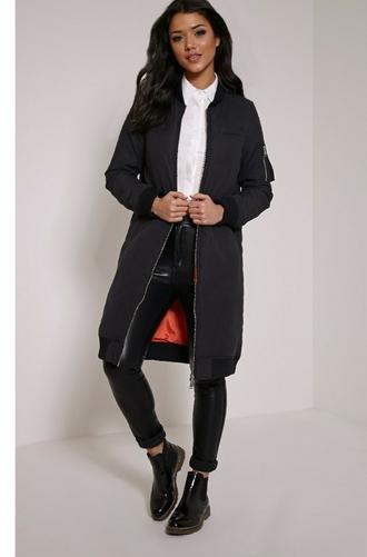 jacket longline bomber