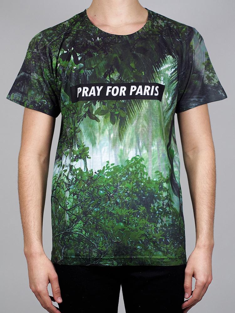 Pray for PARIS 'Rainforest' t-shirt (March 18th) | Pray For Paris