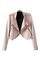 Open front short pink coat