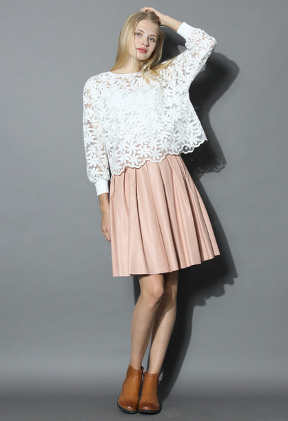 Collection Baby Pink Leather Skirt Pictures - The Fashions Of Paradise
