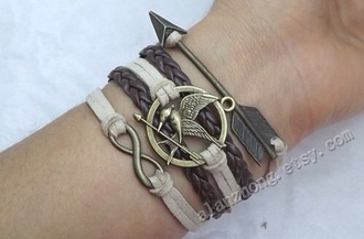 jewels bracelets hunger games braid arrow infinity jacket