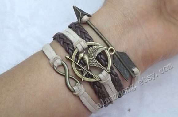 jewels infinity bracelet hunger games braid arrow jacket