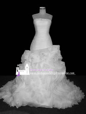 dress,ruffles wedding dresses,trumpet arabic muslim dubai bridal gowns,custom made wedding dresses