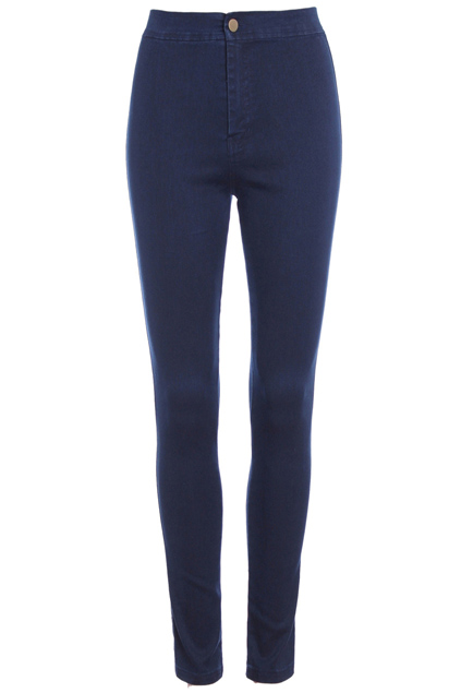 ROMWE | High-waist Blue Skinny Jeans, The Latest Street Fashion