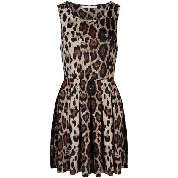 Brave Soul Women's Leopard Print Skater Dress - Polyvore