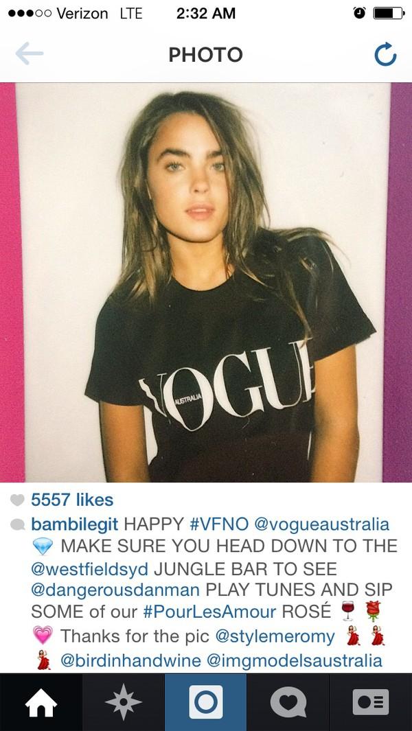 vogue australia vogue magazine vintage vogue t-shirt shirt