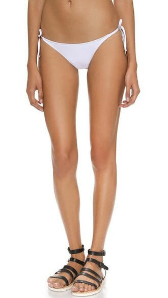 bikini bikini bottoms string bikini white swimwear