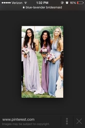 lavender bridesmaid vintage boho wedding halter plunge