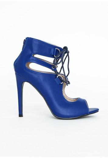 Abi Lace Up Peep Toe Heels - Footwear - Heels - Missguided