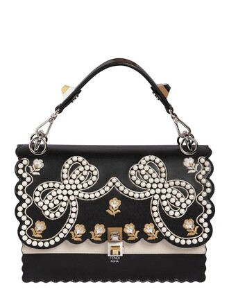 embellished bag leather bag leather black