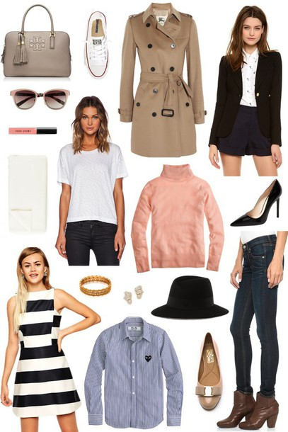 sequins and stripes blogger bag shoes coat jacket sunglasses scarf t-shirt dress jewels hat jeans shirt outfit