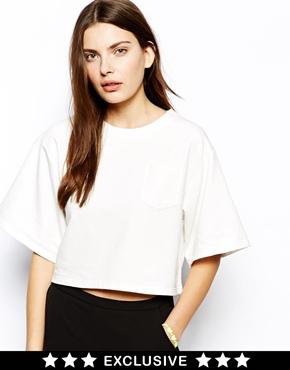Lavish Alice | Lavish Alice Boxy T- Shirt with Kimono Sleeve and Pocket at ASOS