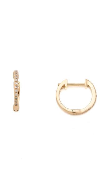 Ariel Gordon Jewelry Pave Diamond Huggie Earrings - Gold/Diamond