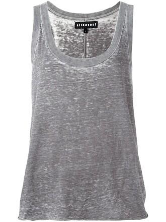 women cotton grey top