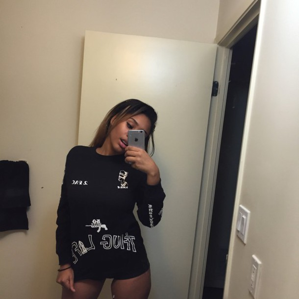 sweater black thug life 2pac sweater gun black sweater
