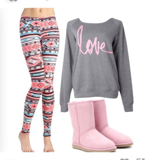 leggings cute pants cute aztec aztec leggings sweater shirt dress