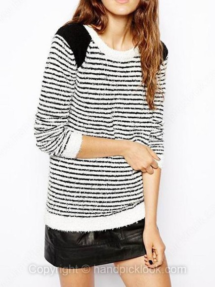 black and white stripes blouse sweater striped sweater black and white sweater