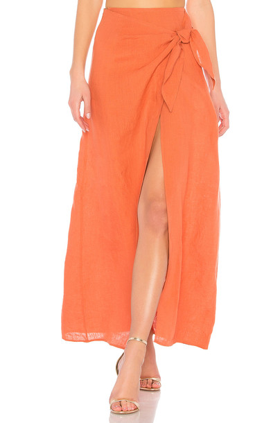 LPA skirt orange