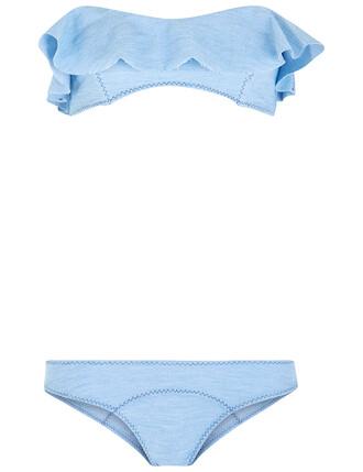 bikini denim blue