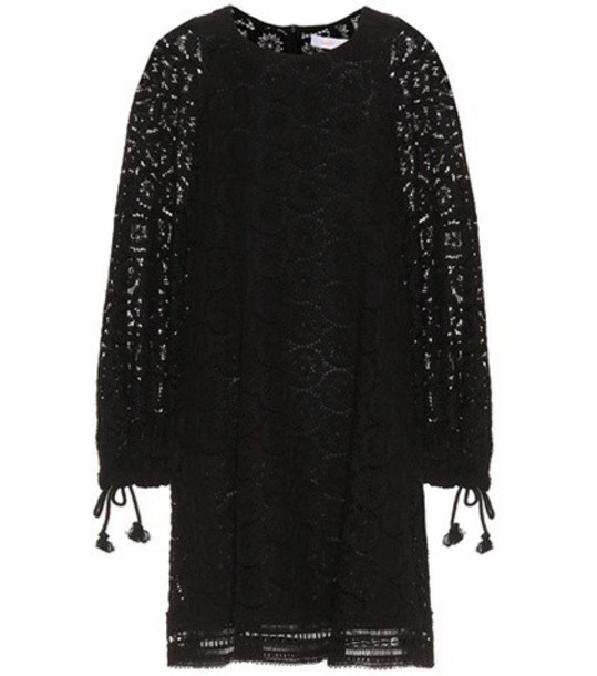 See By Chloé Cotton lace minidress in black
