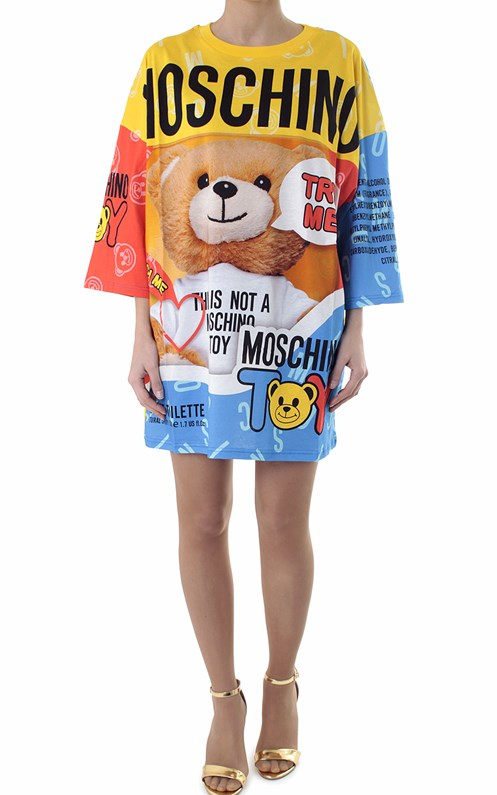 4b2a0ad55e Teddy Bear printed cotton t-shirt dress MOSCHINO