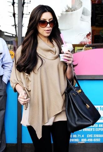 kim kardashian oversized sweater
