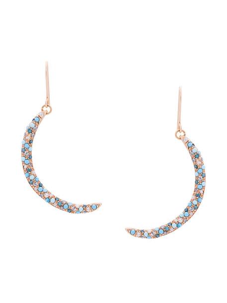 rose gold rose women earrings gold blue grey turquoise metallic jewels