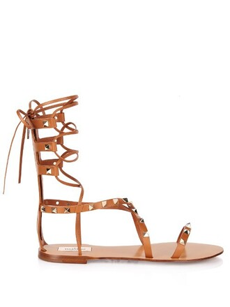 sandals leather tan shoes