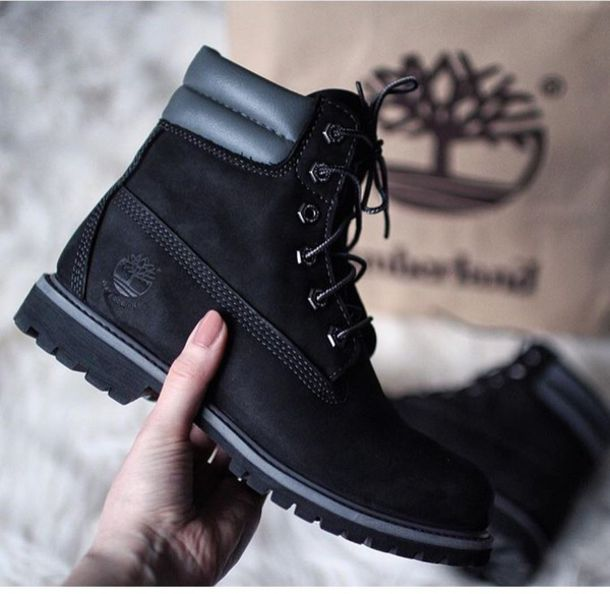 shoes timberlands timberland black black boots black