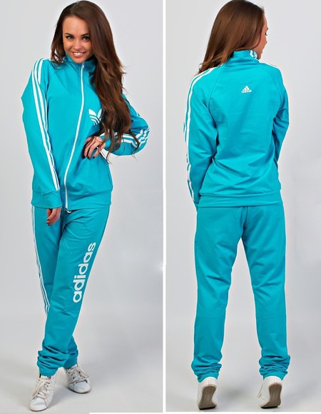 zip zipper jumpsuit 3 stripes adidas tracksuit turquoise