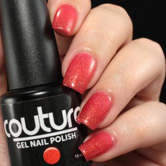 nail polish pink sparkly gel nail polish glittery carmine pink glitter nail polish nails