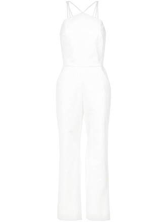 jumpsuit straps women spandex white cotton