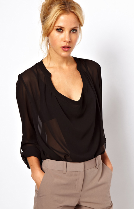V Neck Blouse 82