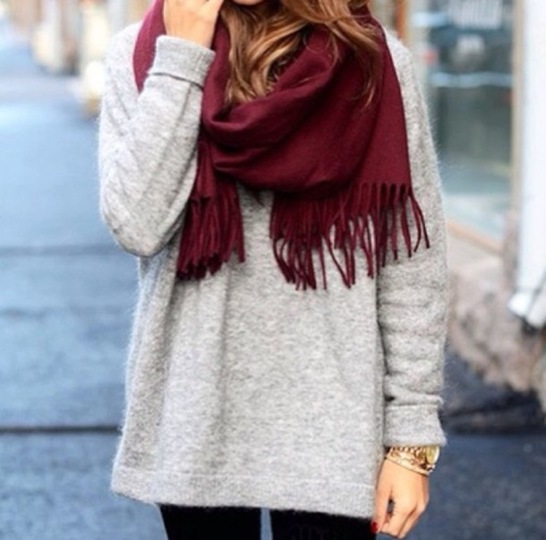 Sweater: grey, fall outfits, fall outfits, winter sweater, cozy ...