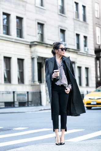 wendy's lookbook blogger jacket dress skirt shoes blouse grey coat black pants high heel pumps pumps