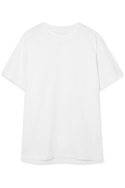 Mm6 Maison Margiela t-shirt shirt t-shirt oversized white cotton off-white top
