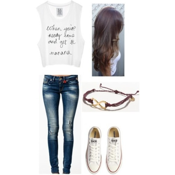 quote on it lyrics shirt infinity converse jeans
